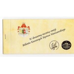Kassowy Bilet Jarmarku Tumskiego w Dwusetną rocznicę emisji Biletów Kasowych - 1,2 i 5 talarów 2010 ETUI