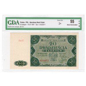 20 złotych 1947 - seria C - GDA 55 EPQ