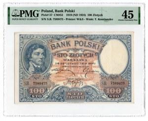 100 złotych 1919 - seria S.B. - PMG 45