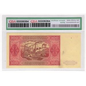 100 złotych 1948 - seria KP - GDA 55 NET