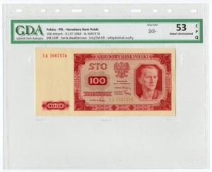 100 złotych 1948 - seria GF - GDA 53 EPQ