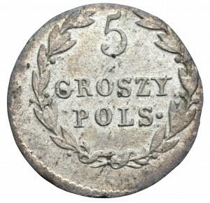 Zabór rosyjski - Królestwo Polskie - 5 groszy 1819