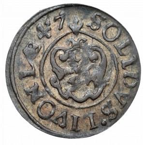 Okupacja szwedzka, szeląg inflancki Krystyna, Ryga 1647