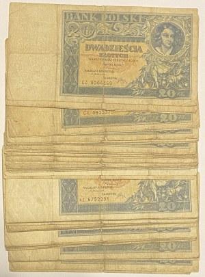 20 złotych 1931 - Mix serii zestaw (67szt)