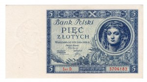 5 złotych 1930 - Ser. D