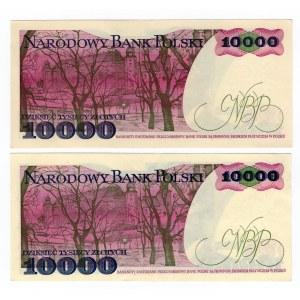 10 000 złotych 1988 - seria AK /AR SET 2 sztuki