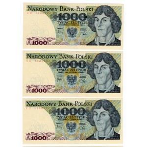 1000 złotych 1982 - zestaw 4 egzemplarze