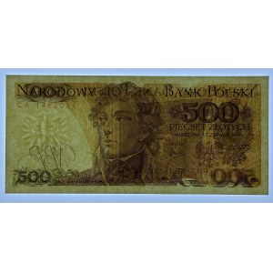 500 złotych 1979 - CA i BS - SET 2 szt.