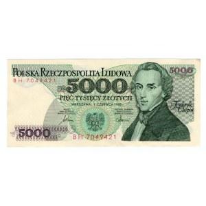 5000 złotych 1982 - seria BH