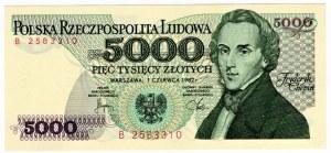 5000 złotych 1982 - seria B i D SET 2 szt.