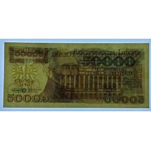 50 000 złotych 1989 - seria A - bankowy egzemplarz