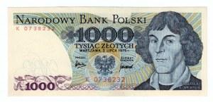 1.000 złotych 1975 - seria K.