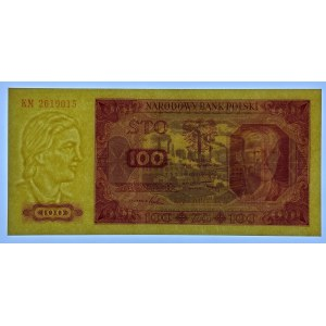 100 złotych 1948 - seria KM