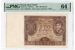 100 złotych 1934 - seria BH - PMG 64