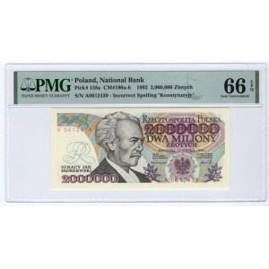 2.000.000 złotych 1992 - z błędem Konstytcyj..y - PMG 66 EPQ