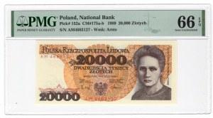 20.000 złotych 1989 - AM - PMG 66 EPQ