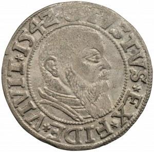 PRUSY - Albrecht Hohenzollern (1525-1568) - Grosz Królewiec 1542