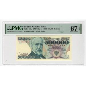 500.000 złotych 1990 - seria C - PMG 67 EPQ
