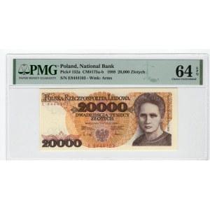 20.000 złotych 1989 - E - PMG 64 EPQ
