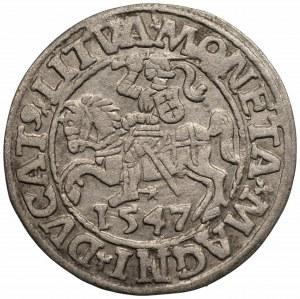 Zygmunt II August (1545-1572) Półgrosz Wilno 1547 - LI/LITVA