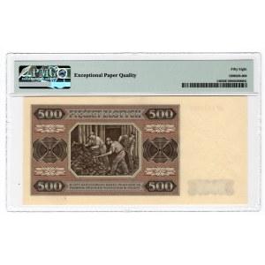 500 złotych 1948 - seria AP - PMG 58 EPQ