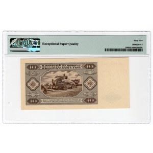 10 złotych 1948 - AW - PMG 65 EPQ