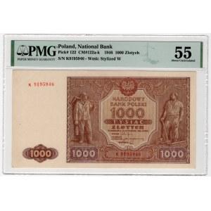 1.000 złotych 1946 - K - PMG 55