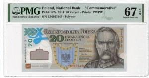 20 złotych 2014 - Legiony Polskie - PMG 67 EPQ