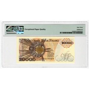 20.000 złotych 1989 - AN - PMG 63 EPQ