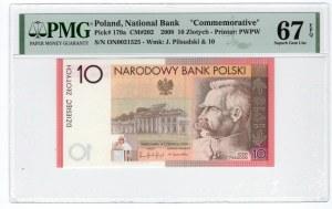 10 złotych 2008 - 90. Rocznica Odzyskania Niepodległości - PMG 67 EPQ