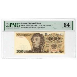 500 złotych 1974 - Y - PMG 64