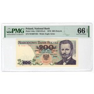 200 złotych 1976 - seria W - PMG 66 EPQ