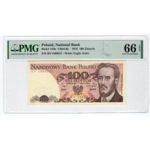 100 złotych 1976 - BY - PMG 66 EPQ