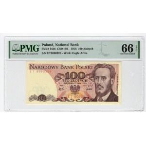 100 złotych 1976 - seria ET - PMG 66 EPQ