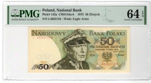 50 złotych 1975 - L - PMG 64 EPQ