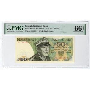 50 złotych 1975 - AL - PMG 66 EPQ