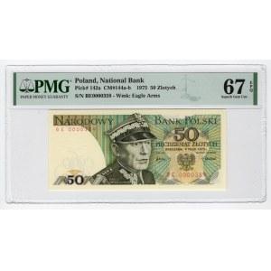 50 złotych 1975 - BE- PMG 67 EPQ