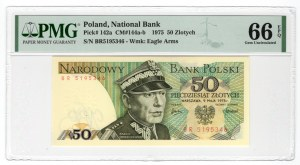 50 złotych 1975 - seria BR - PMG 66 EPQ