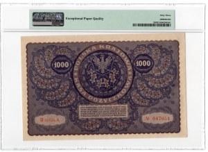 1.000 marek 1919 - III Serja A - PMG 63 EPQ
