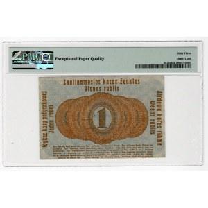 POSEN/POZNAŃ - 1 rubel 1916 - skrócona klauzula - PMG 63 EPQ
