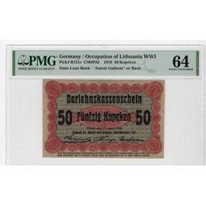 POSEN/POZNAŃ - 50 kopiejek 1916 - klauzula krótka - PMG 64
