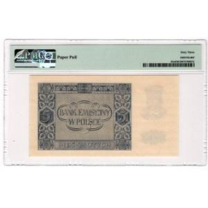 5 złotych 1940 - seria C 0000000 - PMG 63 - WZÓR
