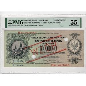 WZÓR - 10.000.000 marek polskich 1923 - seria B - PMG 55