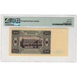 20 złotych 1948 - seria CH - PMG 65 EPQ