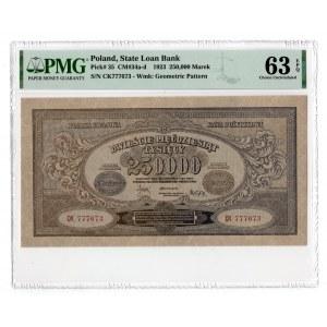 250.000 marek 1923 - seria CK - PMG 63 EPQ