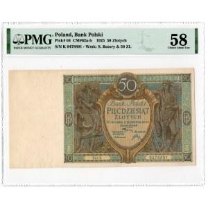 50 złotych 1925 - seria K - PMG 58