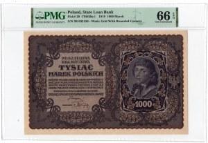 1.000 marek 1919 - III Serja R- PMG 66 EPQ
