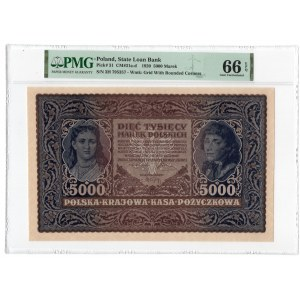 5.000 marek 1920 - III Serja H - PMG 66 EPQ