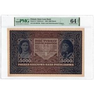 1.000 marek 1919 - III Serja D - PMG 64 EPQ