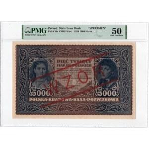 WZÓR 5.000 marek 1920 - III Serja A - PMG 50